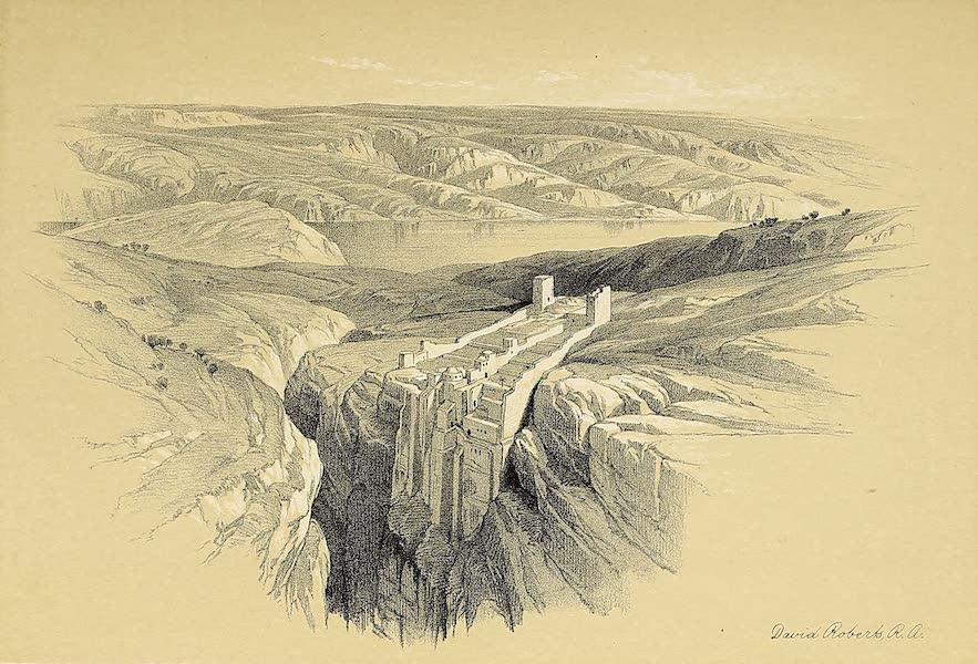 The Holy Land : Syria, Idumea, Arabia, Egypt & Nubia Vols. 1 & 2 - The Dead Sea, Looking Towards Moab (1855)