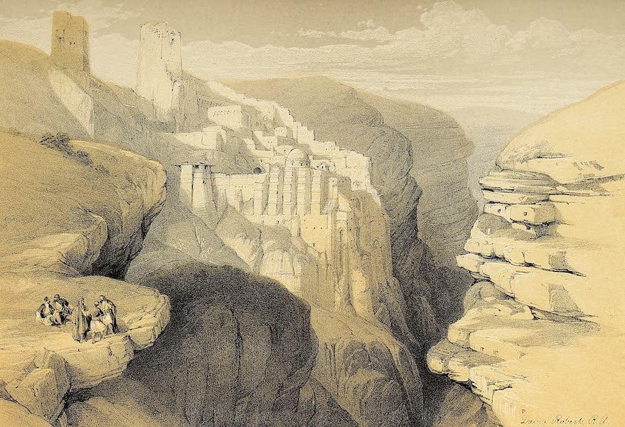 The Holy Land : Syria, Idumea, Arabia, Egypt & Nubia Vols. 1 & 2 - Convent of St. Saba (1855)