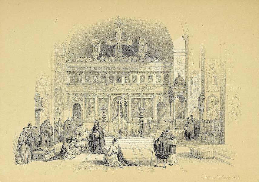 The Holy Land : Syria, Idumea, Arabia, Egypt & Nubia Vols. 1 & 2 - Chapel of St. Saba (1855)