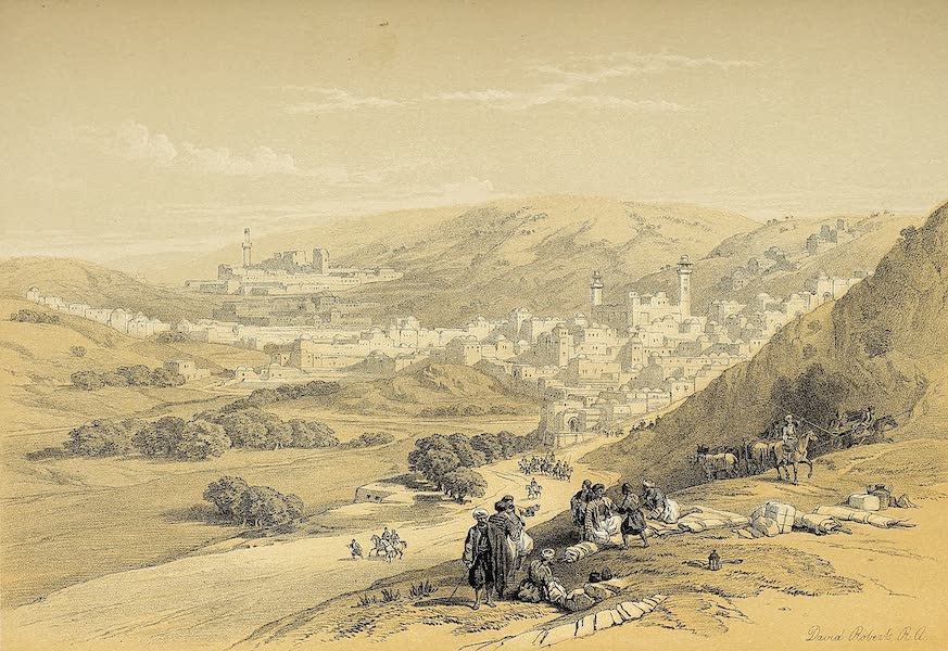 The Holy Land : Syria, Idumea, Arabia, Egypt & Nubia Vols. 1 & 2 - Hebron (1855)