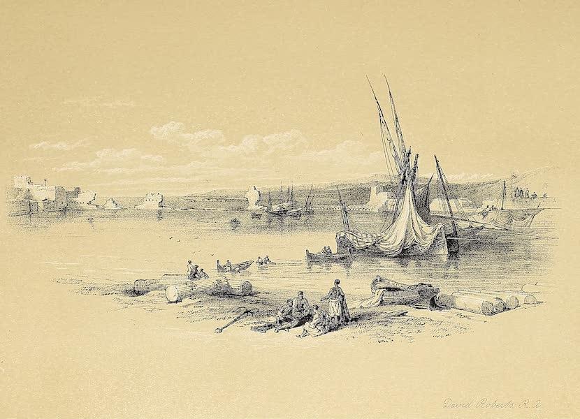 The Holy Land : Syria, Idumea, Arabia, Egypt & Nubia Vols. 1 & 2 - Port of Tyre (1855)