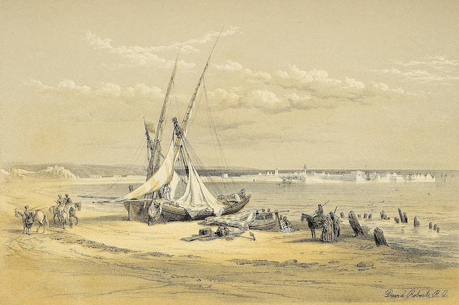The Holy Land : Syria, Idumea, Arabia, Egypt & Nubia Vols. 1 & 2 - General View of Tyre (1855)
