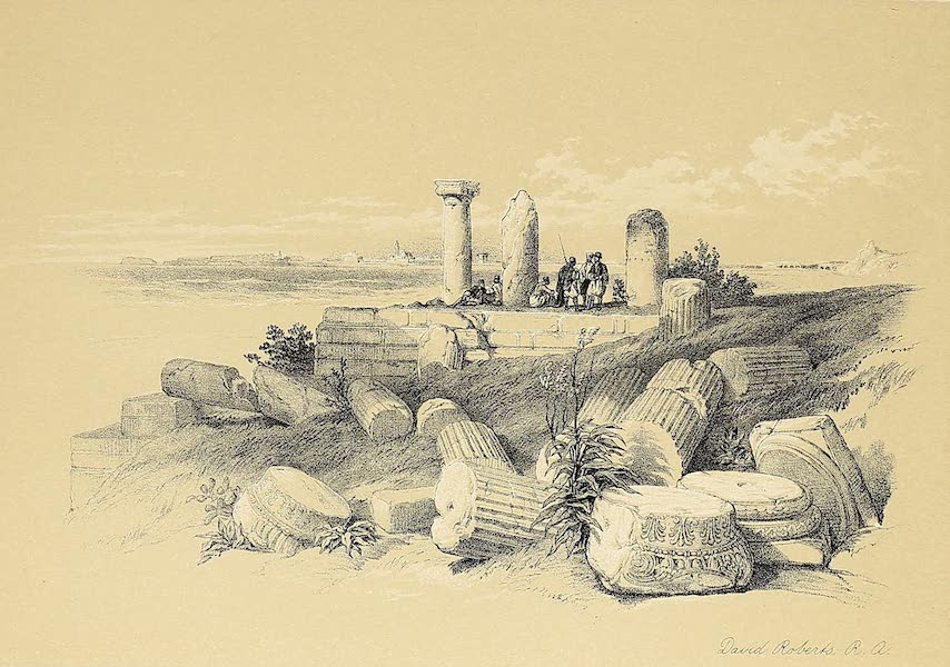 The Holy Land : Syria, Idumea, Arabia, Egypt & Nubia Vols. 1 & 2 - Ruins of the Ionic Temple of Om El Hamed, near Tyre (1855)