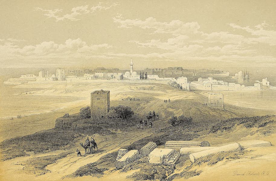 The Holy Land : Syria, Idumea, Arabia, Egypt & Nubia Vols. 1 & 2 - Tyre, from the Isthmus (1855)