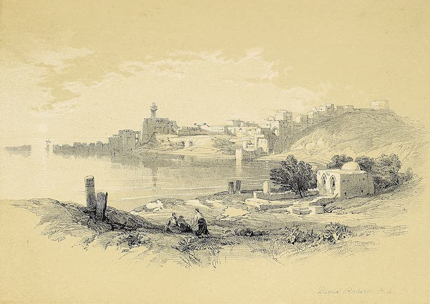 The Holy Land : Syria, Idumea, Arabia, Egypt & Nubia Vols. 1 & 2 - Sidon, from the North (1855)