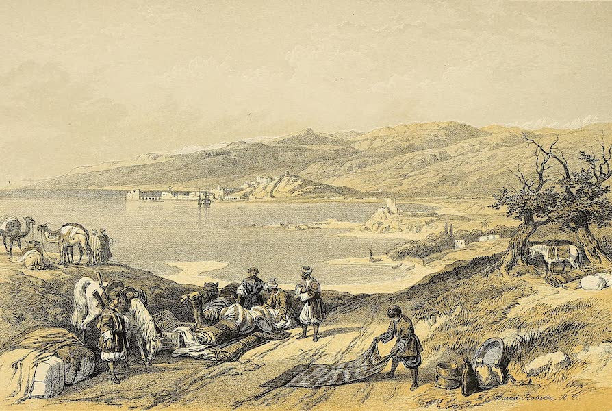 The Holy Land : Syria, Idumea, Arabia, Egypt & Nubia Vols. 1 & 2 - Sidon, looking towards Lebanon (1855)