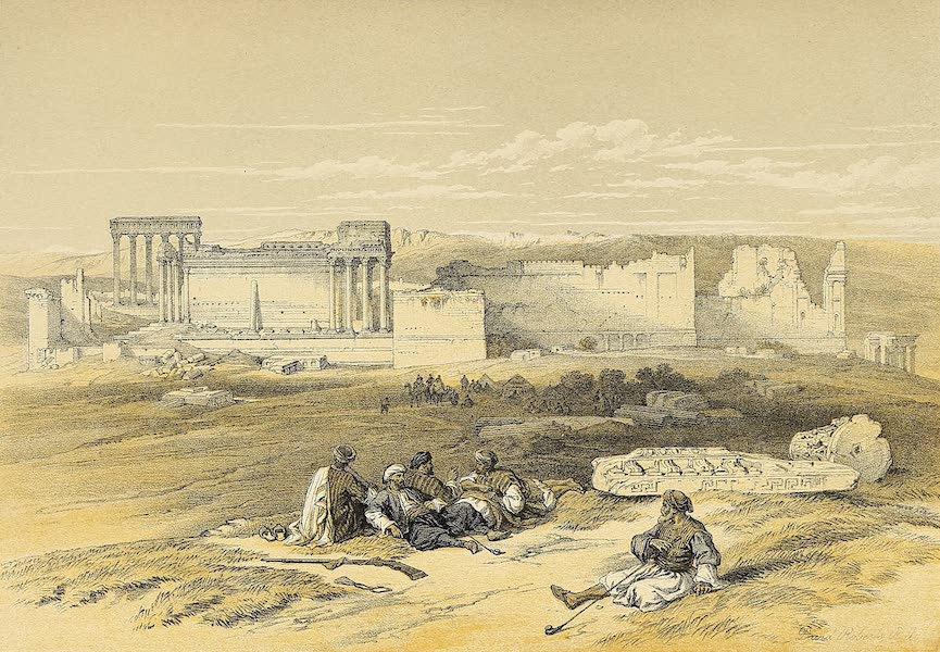 The Holy Land : Syria, Idumea, Arabia, Egypt & Nubia Vols. 1 & 2 - Baalbec, General View (1855)