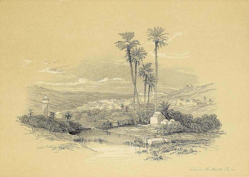 The Holy Land : Syria, Idumea, Arabia, Egypt & Nubia Vols. 1 & 2 - Jenin, Ancient Jezreel (1855)