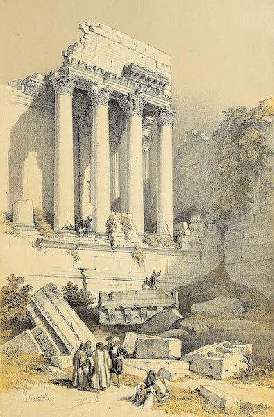 The Holy Land : Syria, Idumea, Arabia, Egypt & Nubia Vols. 1 & 2 - Baalbec, Western Portico (1855)