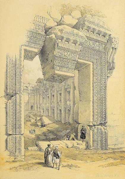 The Holy Land : Syria, Idumea, Arabia, Egypt & Nubia Vols. 1 & 2 - Doorway, Baalbec (1855)