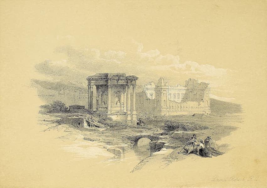 The Holy Land : Syria, Idumea, Arabia, Egypt & Nubia Vols. 1 & 2 - The Circular Temple, Baalbec (1855)