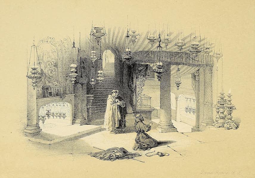The Holy Land : Syria, Idumea, Arabia, Egypt & Nubia Vols. 1 & 2 - Shrine of the Nativity, Bethlehem (1855)