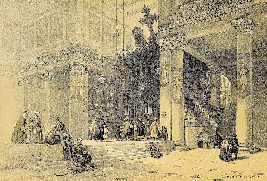 The Holy Land : Syria, Idumea, Arabia, Egypt & Nubia Vols. 1 & 2 - Chancel of the Church of St. Helena, Bethlehem  (1855)