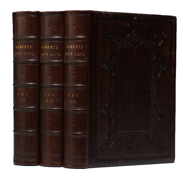 The Holy Land : Syria, Idumea, Arabia, Egypt & Nubia Vols. 3 & 4 - Book Display (1855)