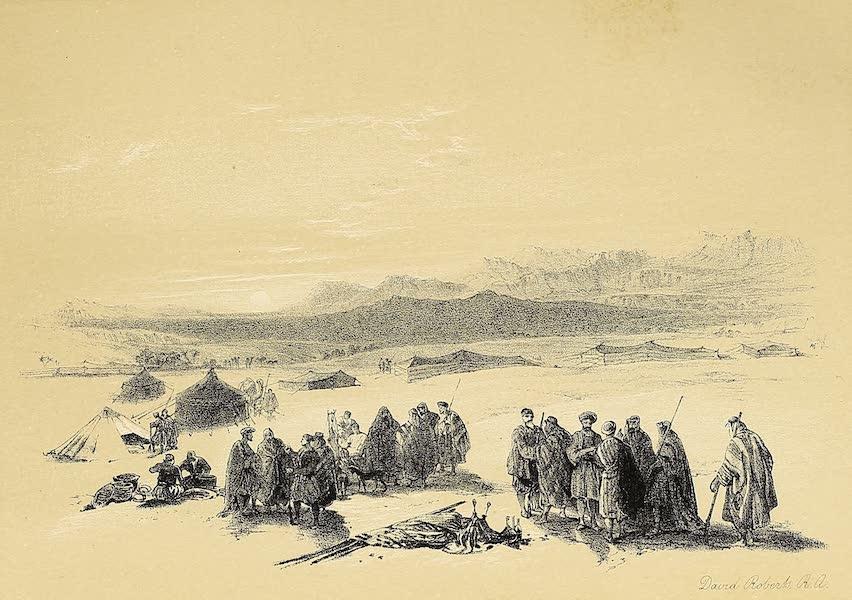 The Holy Land : Syria, Idumea, Arabia, Egypt & Nubia Vols. 3 & 4 - Encampment of the Alloeen in Wady Araba (1855)
