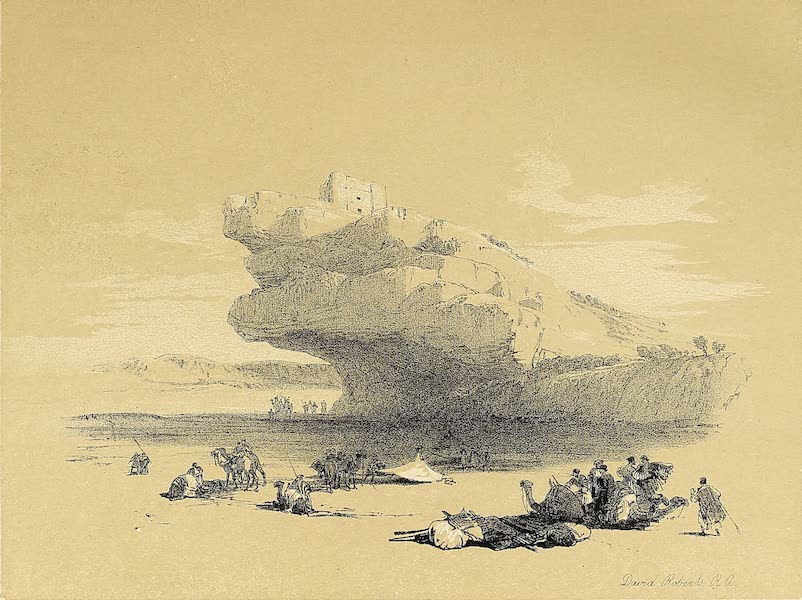 The Holy Land : Syria, Idumea, Arabia, Egypt & Nubia Vols. 3 & 4 - Ancient Watch-Tower, Approach to Petra (1855)