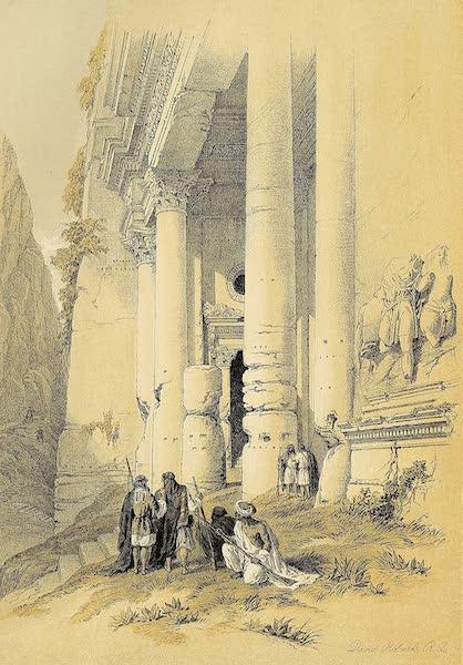 The Holy Land : Syria, Idumea, Arabia, Egypt & Nubia Vols. 3 & 4 - Lower Portion of El Khasne, Petra (1855)