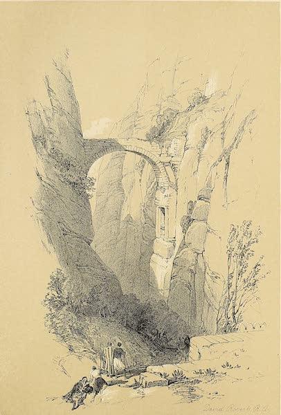 The Holy Land : Syria, Idumea, Arabia, Egypt & Nubia Vols. 3 & 4 - The Arch Across the Ravine, Petra (1855)
