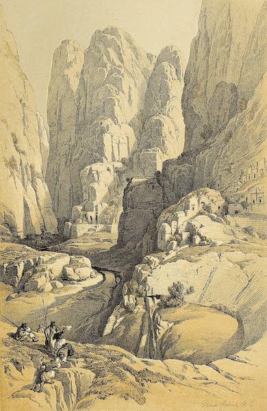 The Holy Land : Syria, Idumea, Arabia, Egypt & Nubia Vols. 3 & 4 - The Theatre, Petra (1855)