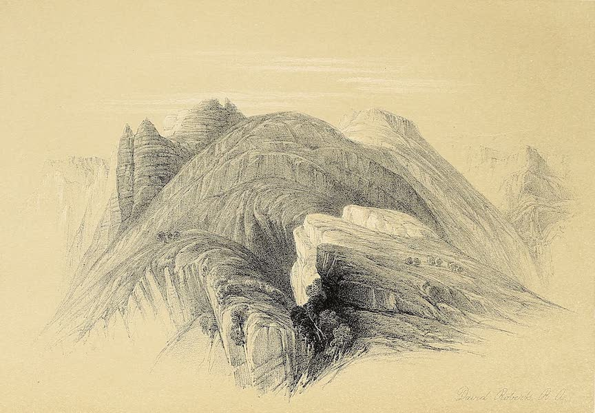 The Holy Land : Syria, Idumea, Arabia, Egypt & Nubia Vols. 3 & 4 - Mount Hor, from the Cliffs Encircling Petra (1855)