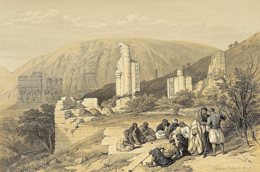 The Holy Land : Syria, Idumea, Arabia, Egypt & Nubia Vols. 3 & 4 - Remains of a Triumphal Arch at Petra (1855)