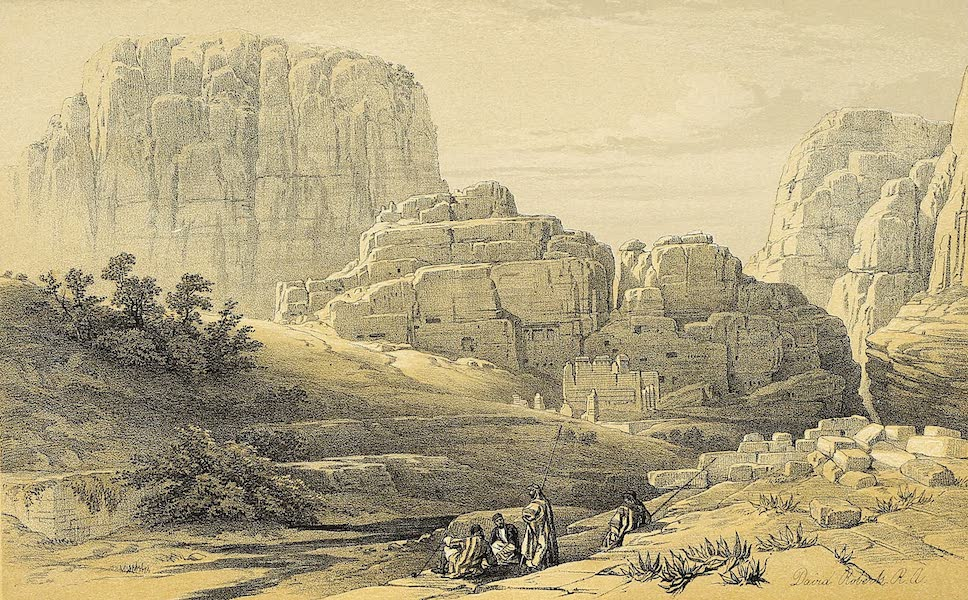 The Holy Land : Syria, Idumea, Arabia, Egypt & Nubia Vols. 3 & 4 - The Acropolis (Kusr Faron), Lower End of the Valley (1855)