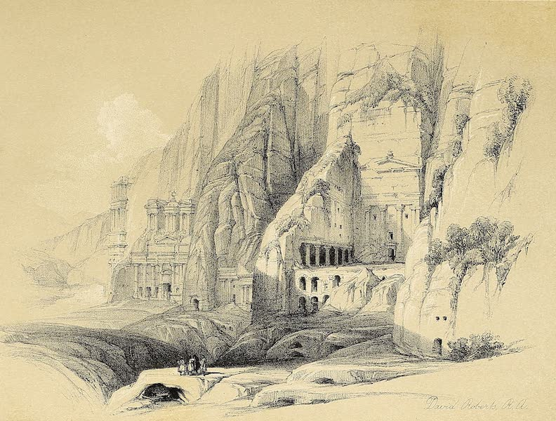 The Holy Land : Syria, Idumea, Arabia, Egypt & Nubia Vols. 3 & 4 - Excavations at the Eastern End of the Valley Petra (1855)