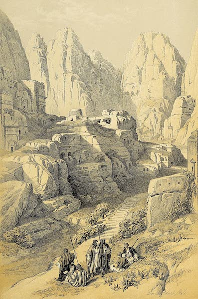 The Holy Land : Syria, Idumea, Arabia, Egypt & Nubia Vols. 3 & 4 - The Ravine, Petra (1855)