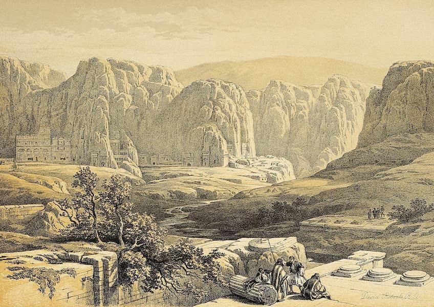 The Holy Land : Syria, Idumea, Arabia, Egypt & Nubia Vols. 3 & 4 - Site of Petra, South (1855)