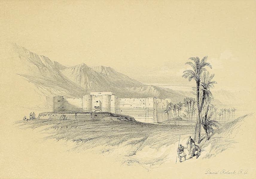 The Holy Land : Syria, Idumea, Arabia, Egypt & Nubia Vols. 3 & 4 - Fortress of Akaba, Arabia Petraea (1855)