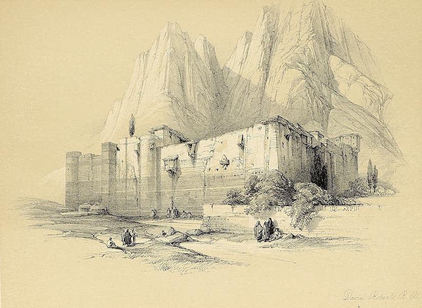 The Holy Land : Syria, Idumea, Arabia, Egypt & Nubia Vols. 3 & 4 - Convent of St. Catherine, Mount Sinai (1855)