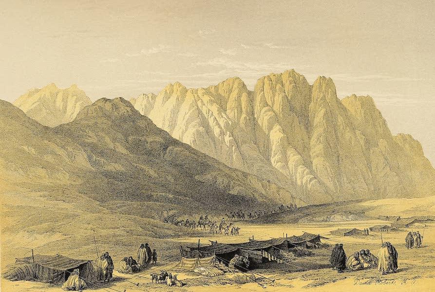 The Holy Land : Syria, Idumea, Arabia, Egypt & Nubia Vols. 3 & 4 - Encampment of the Oulad-Said, Mount Sinai (1855)