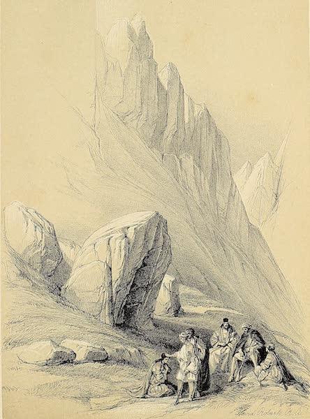 The Holy Land : Syria, Idumea, Arabia, Egypt & Nubia Vols. 3 & 4 - Rock of Moses, Wady-El-Leja, Mount Horeb (1855)