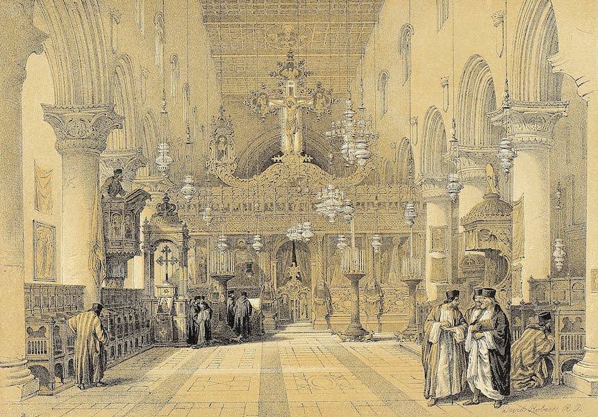 The Holy Land : Syria, Idumea, Arabia, Egypt & Nubia Vols. 3 & 4 - Chapel of the Convent of St. Catherine (1855)