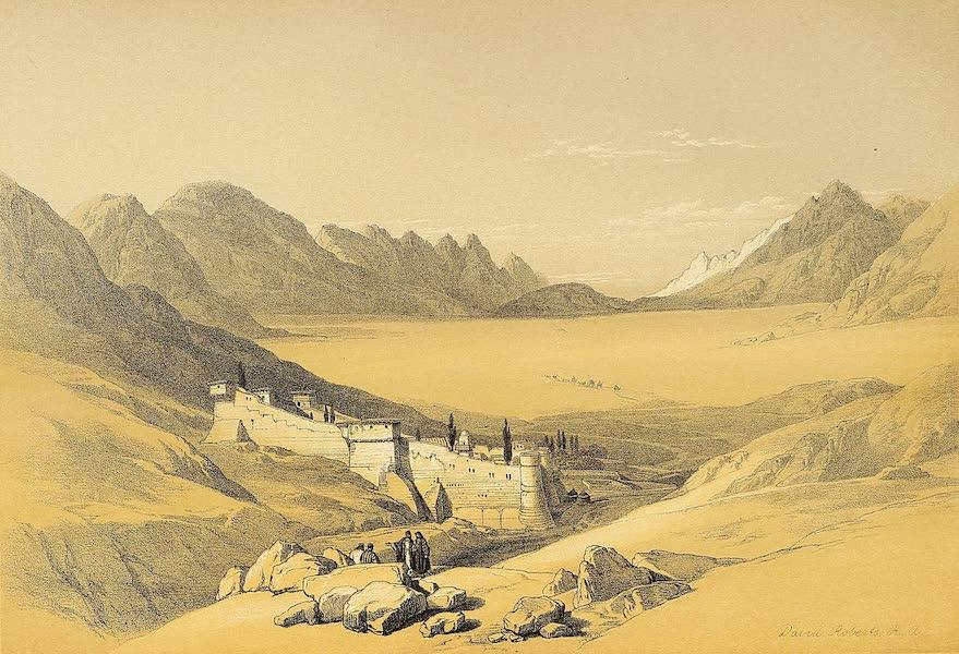 The Holy Land : Syria, Idumea, Arabia, Egypt & Nubia Vols. 3 & 4 - The Convent of St. Catherine, Mount Sinai (1855)