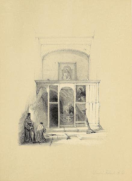 The Holy Land : Syria, Idumea, Arabia, Egypt & Nubia Vols. 3 & 4 - Chapel of Elijah, Mount Sinai (1855)