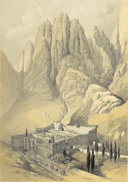 The Holy Land : Syria, Idumea, Arabia, Egypt & Nubia Vols. 3 & 4 - Convent of St. Catherine, with Mount Horeb (1855)