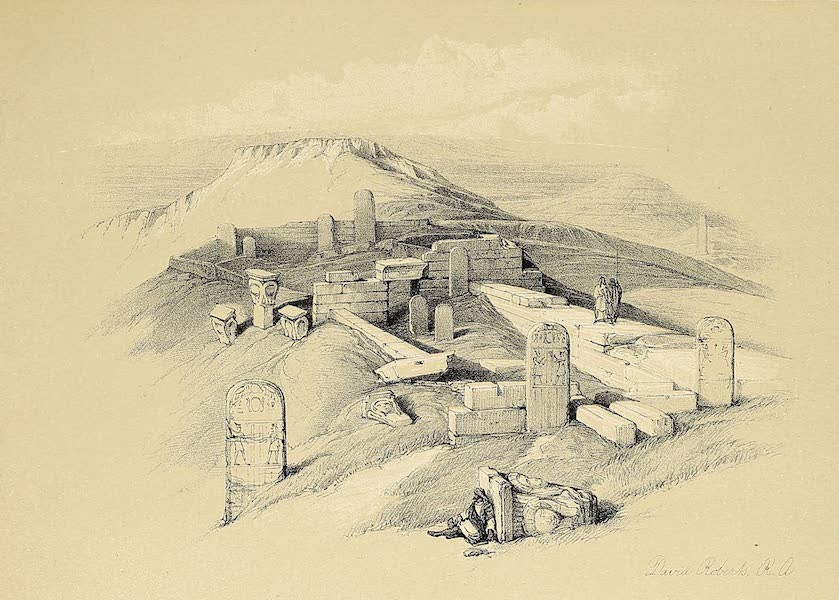 The Holy Land : Syria, Idumea, Arabia, Egypt & Nubia Vols. 3 & 4 - An Ancient Egyptian Temple on Gebel Garabe (1855)