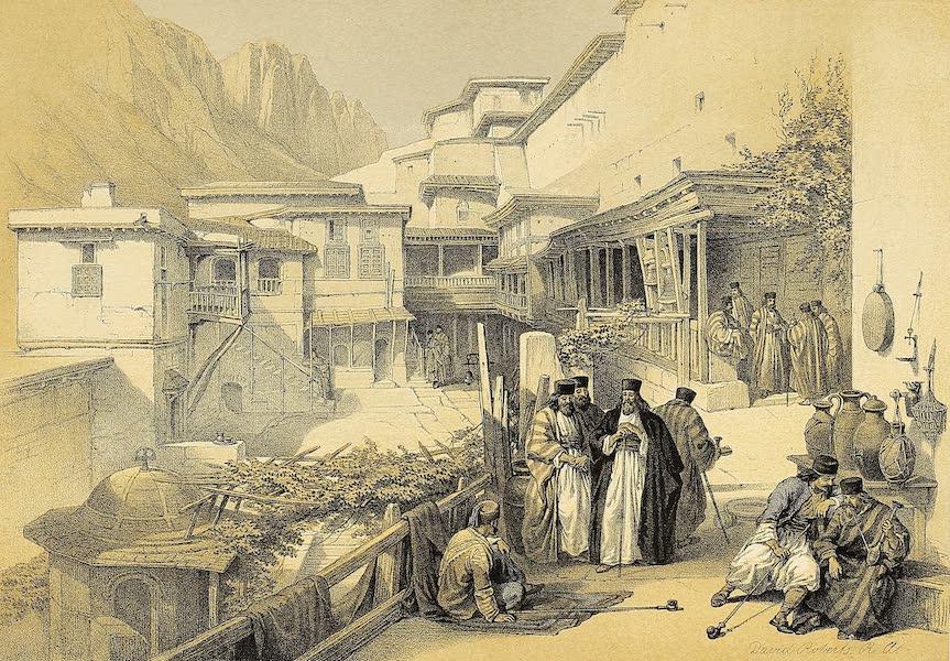 The Holy Land : Syria, Idumea, Arabia, Egypt & Nubia Vols. 3 & 4 - Convent of St. Catherine, Mount Sinai, Principal Court (1855)