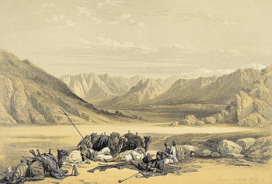 The Holy Land : Syria, Idumea, Arabia, Egypt & Nubia Vols. 3 & 4 - Approach to Mount Sinai (1855)
