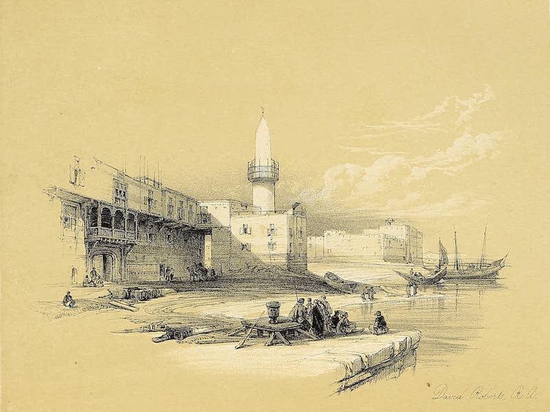 The Holy Land : Syria, Idumea, Arabia, Egypt & Nubia Vols. 3 & 4 - Scene on the Quay of Suez (1855)
