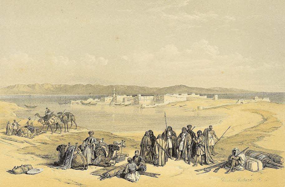 The Holy Land : Syria, Idumea, Arabia, Egypt & Nubia Vols. 3 & 4 - Suez, General View (1855)