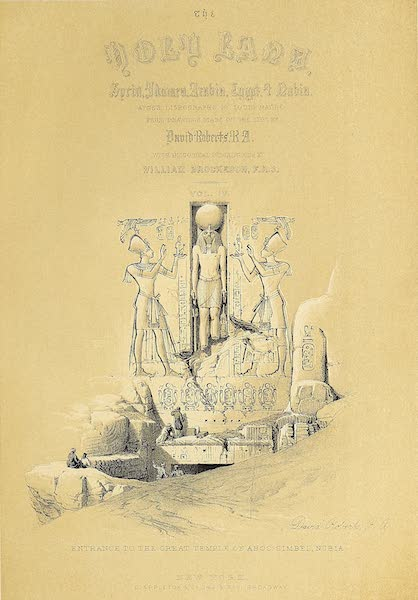 The Holy Land : Syria, Idumea, Arabia, Egypt & Nubia Vols. 3 & 4 - Title Page - Volume 4 (Vignette: Scene in a Street in Cairo) (1855)