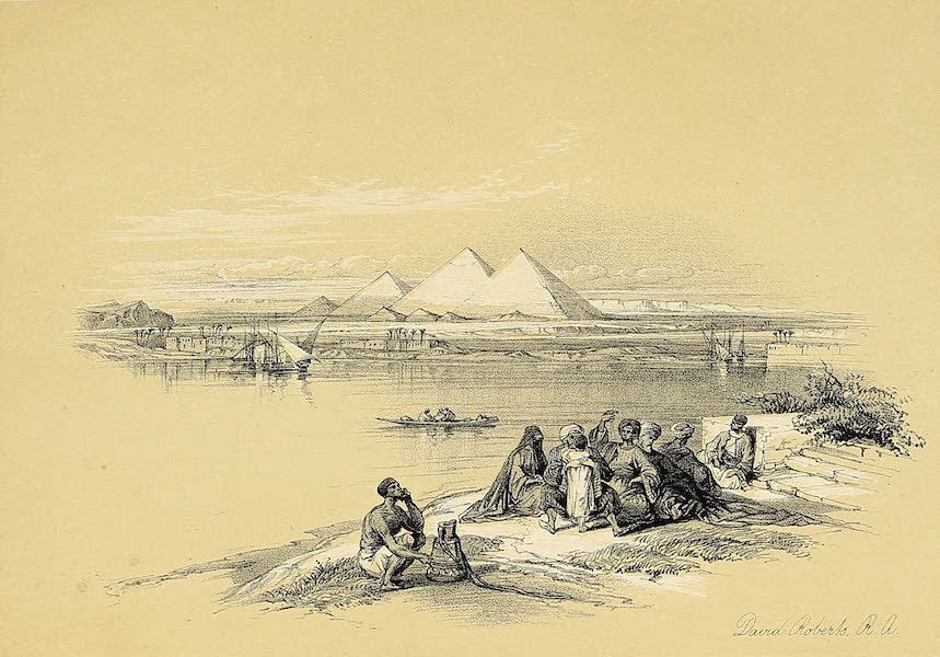 The Holy Land : Syria, Idumea, Arabia, Egypt & Nubia Vols. 3 & 4 - Entrance to the Great Temple of Aboo-Simbel, Nubia (1855)