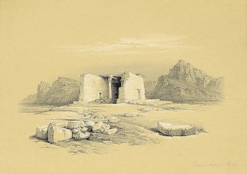 The Holy Land : Syria, Idumea, Arabia, Egypt & Nubia Vols. 3 & 4 - Ruins of the Temple of Kom-Ombo, Upper Egypt (1855)