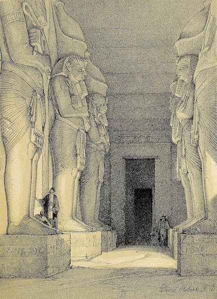 The Holy Land : Syria, Idumea, Arabia, Egypt & Nubia Vols. 3 & 4 - Colossal Figures in Front of the Great Temple of Aboo-Simbel (1855)