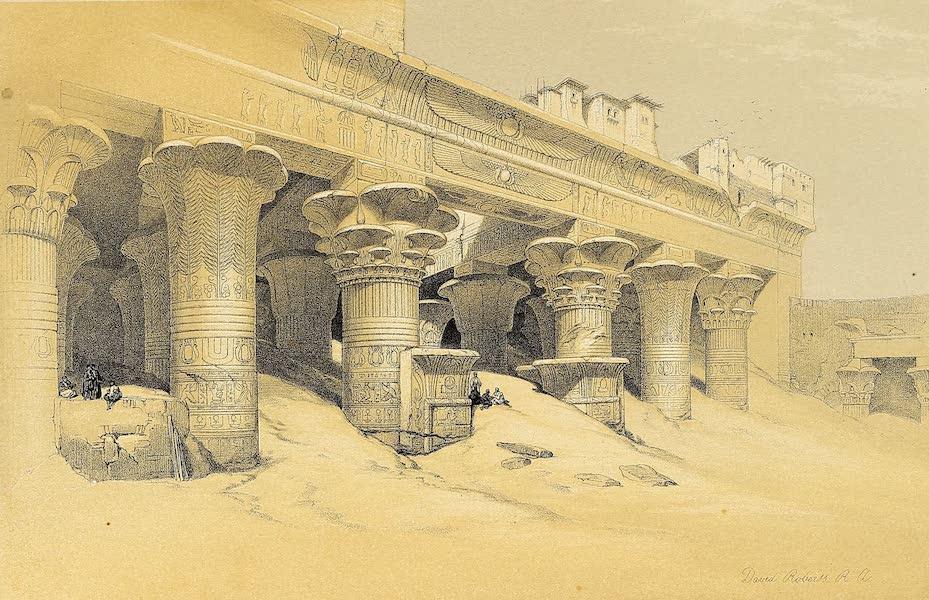 The Holy Land : Syria, Idumea, Arabia, Egypt & Nubia Vols. 3 & 4 - Excavated Temple of Gyrshe, Nubia (1855)
