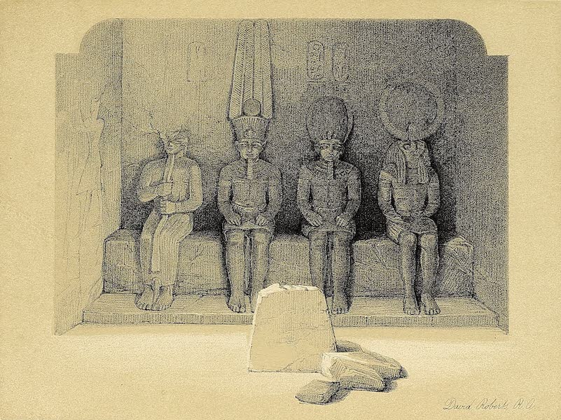 The Holy Land : Syria, Idumea, Arabia, Egypt & Nubia Vols. 3 & 4 - Thebes, the Colossal Statues of Amunoph III (1855)