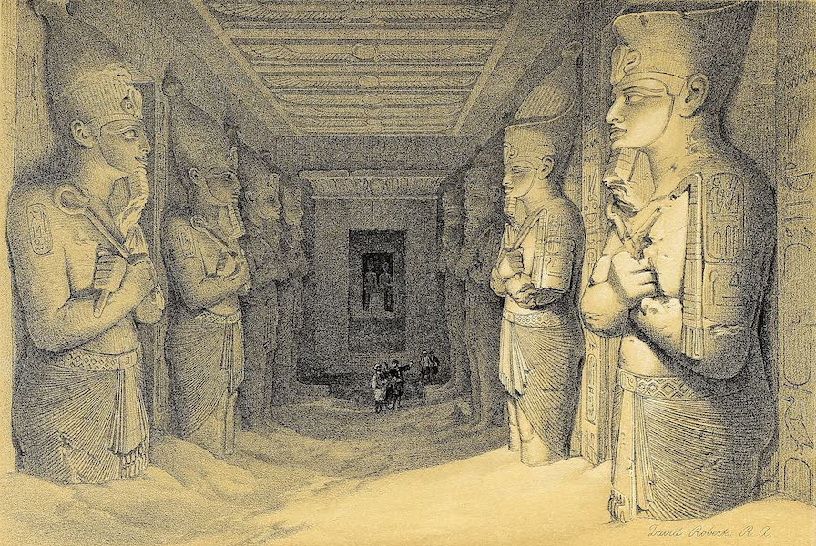 The Holy Land : Syria, Idumea, Arabia, Egypt & Nubia Vols. 3 & 4 - Sanctuary of the Great Temple of Aboo-Simbel, Nubia (1855)