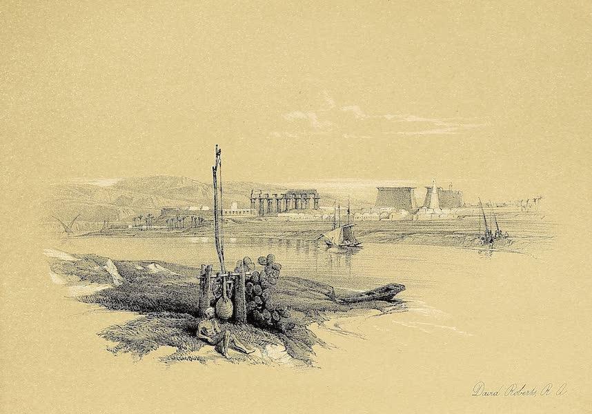 The Holy Land : Syria, Idumea, Arabia, Egypt & Nubia Vols. 3 & 4 - Interior of the Great Temple of Aboo-Simbel, Nubia (1855)